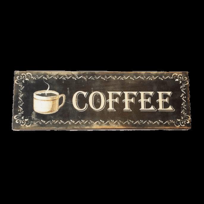 Placa Decorativa Coffee 3Ox10cm