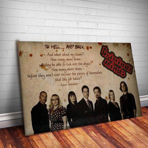 Placa Decorativa Criminal Minds 4