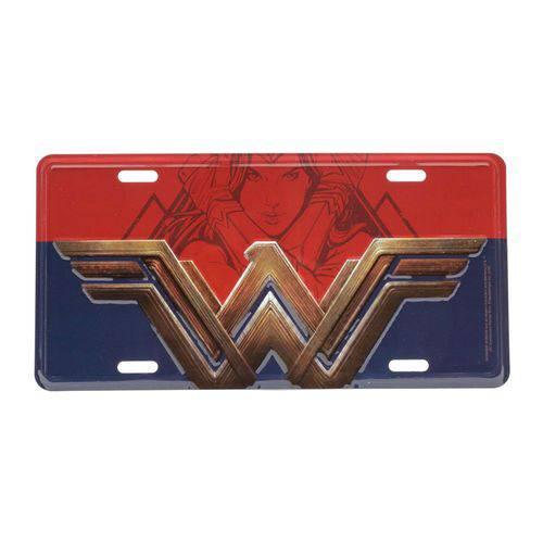 Placa Decorativa de Alumínio Mulher Maravilha Logo DC Comics