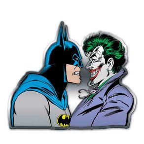 Placa Decorativa de Metal Recortada Batman e Coringa DC Comics