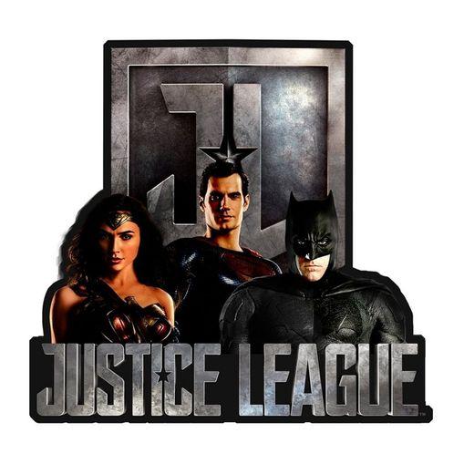 Placa Decorativa em Alumínio Liga da Justiça 41407 Urban