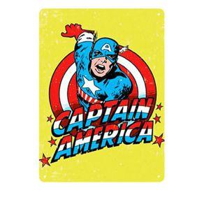 Placa Decorativa em MDF Capitao America Marvel