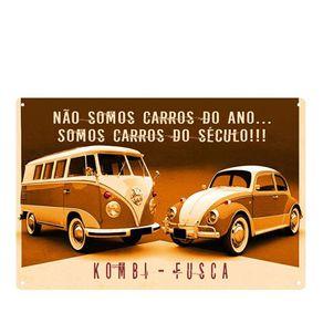 Placa Decorativa em MDF Carros do Século