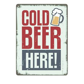 Placa Decorativa em MDF Cerveja Cold Beer
