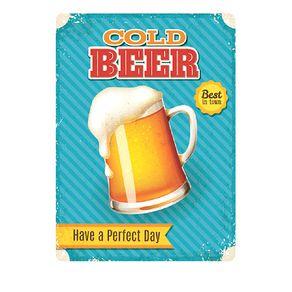 Placa Decorativa em MDF Cerveja Gelada Cold Beer