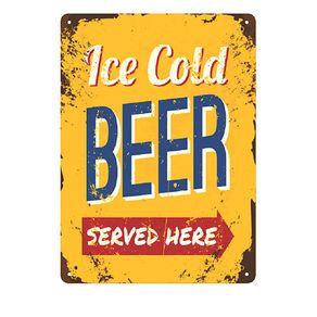 Placa Decorativa em MDF Cerveja Ice Cold Beer
