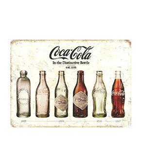 Placa Decorativa em MDF Coca-Cola Garrafas