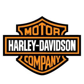 Placa Decorativa em MDF Formato Moto Harley Davidson Logo