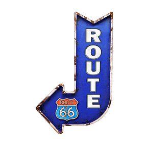 Placa Decorativa em MDF Formato Seta Rota 66