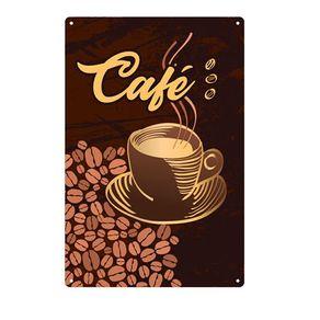 Placa Decorativa em MDF Grão de Café
