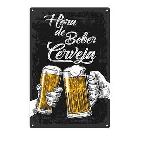Placa Decorativa em MDF Hora de Beber Cerveja
