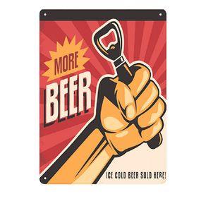 Placa Decorativa em MDF Mais Cerveja