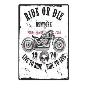 Placa Decorativa em MDF Ride Of Die