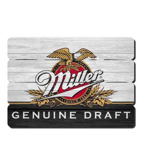 Placa Decorativa em MDF Ripado Cerveja Miller