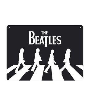 Placa Decorativa em MDF The Beatles Caminhada Ilustracao