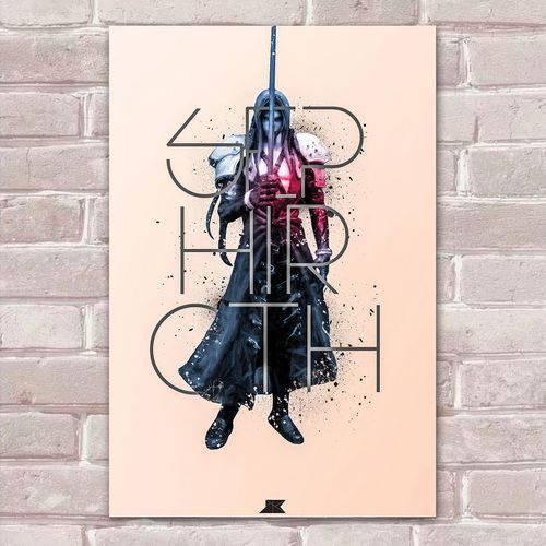 Placa Decorativa Fan Art 36 Sephiroth