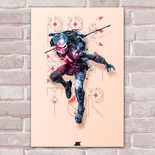 Placa Decorativa Fan Art 33 Predador