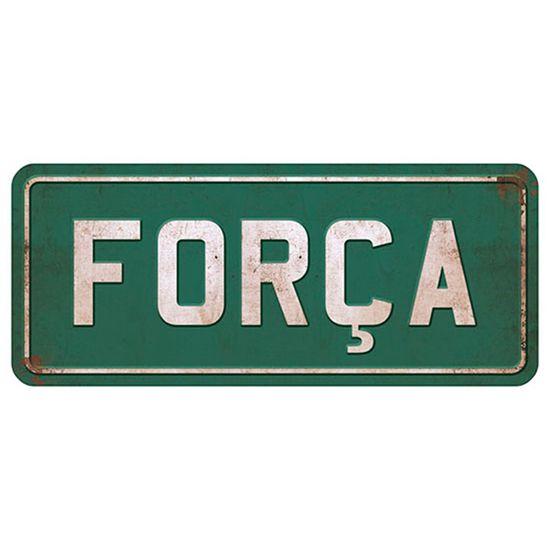 Placa Decorativa Força 14,6x35cm DHPM2-025 - Litoarte