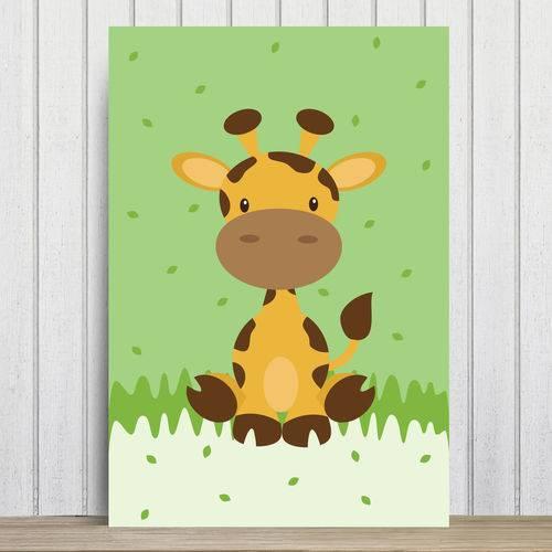 Placa Decorativa Infantil Safari Girafa MDF 30x40cm