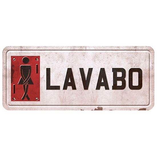 Placa Decorativa Lavabo Feminino 14,6x35cm DHPM2-019 - Litoarte