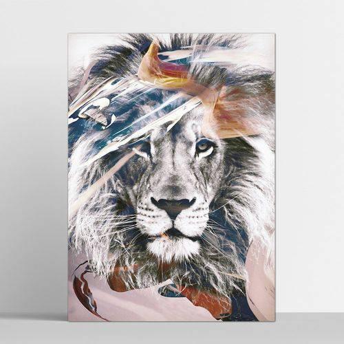 Placa Decorativa Leão 20x30cm