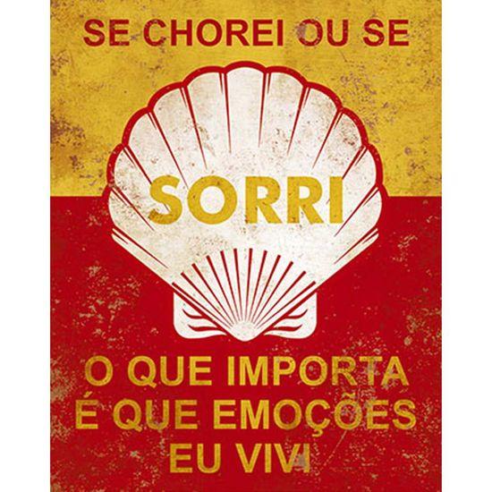 Placa Decorativa Litoarte DHPM-234 24x19cm se Chorei ou se Sorri