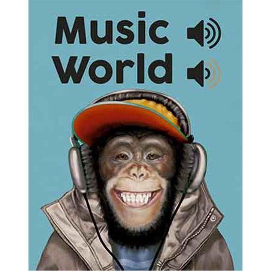 Placa Decorativa Litoarte DHPM-322 24x19cm Music World