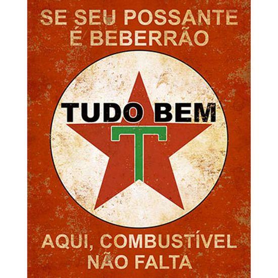 Placa Decorativa Litoarte Dhpm-232 24x19cm se Seu Possante é Beberrão