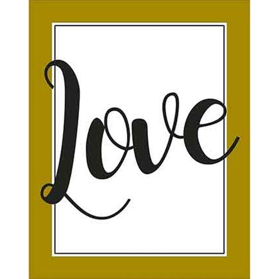 Placa Decorativa Litoarte DHPM-359 24x19cm Love