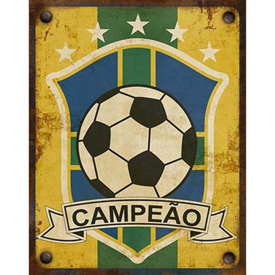 Placa Decorativa Litoarte DHPM-364 24x19cm Campeão