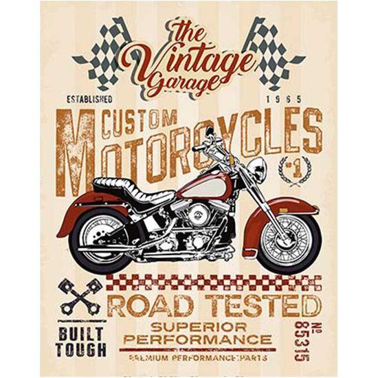 Placa Decorativa Litoarte DHPM-369 24x19cm Moto Vermelha