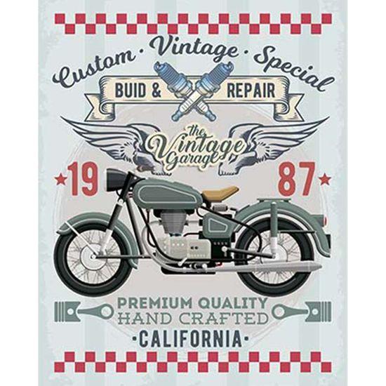 Placa Decorativa Litoarte DHPM-372 24x19cm Moto Verde