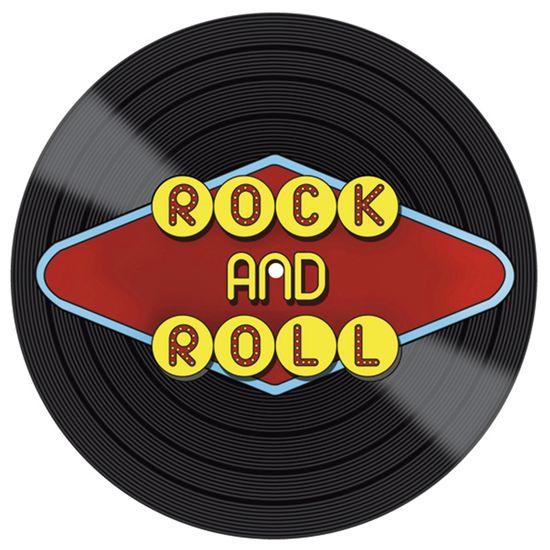 Placa Decorativa Litocart Lpdvp-006 20x20cm Disco Vinil Rock And Roll