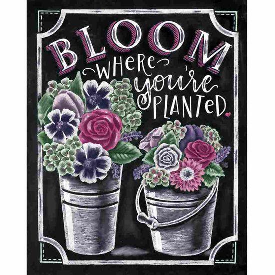 Placa Decorativa Litocart LPMC-121 24,5x19,5cm Bloom Where You'Re Planted