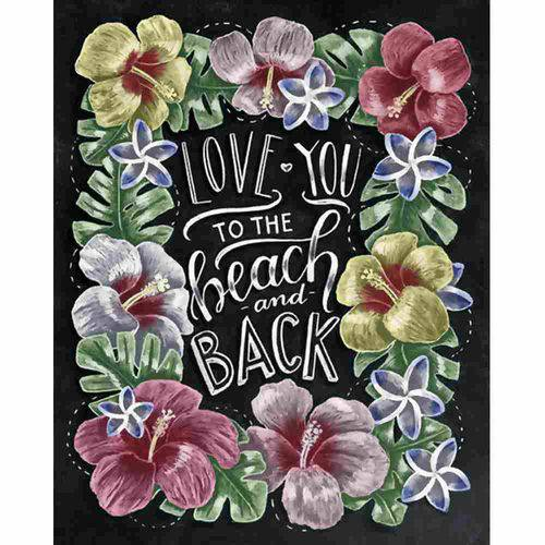 Placa Decorativa Litocart Lpmc-116 24,5x19,5cm Love You To The Beach And Back