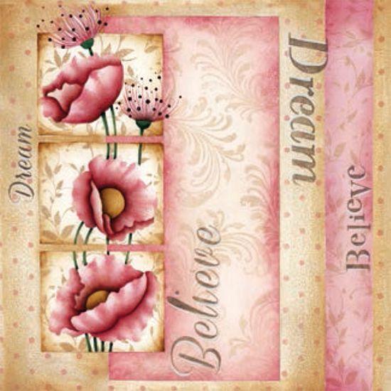 Placa Decorativa Madeira Pequena Drean Flor LPPC-008 - Litocart