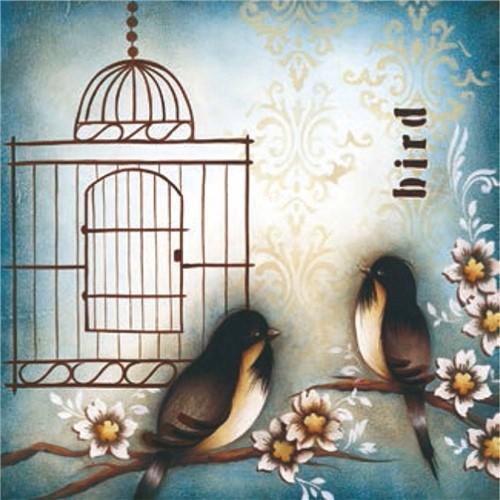 Placa Decorativa Madeira Pequena 2 Pássaro Lppc-05 - Litocart