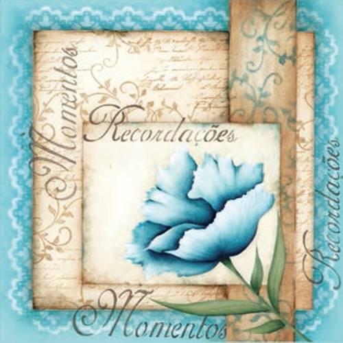 Placa Decorativa Madeira Pequena Recordações Flor Lppc-09 - Litocart
