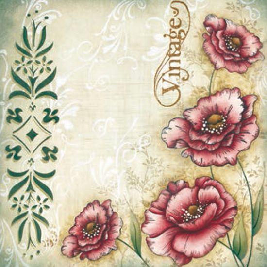 Placa Decorativa Madeira Pequena Vintage Flor LPPC-006 - Litocart