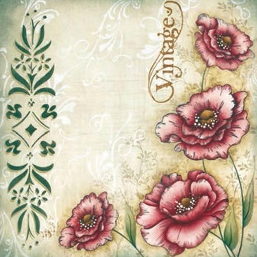 Placa Decorativa Madeira Pequena Vintage Flor Lppc-06 - Litocart