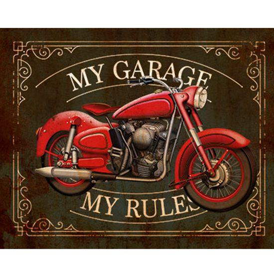 Placa Decorativa My Garage 24x19cm DHPM-171 - Litoarte
