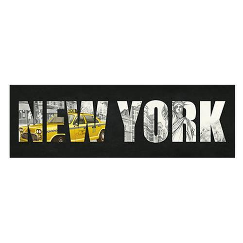 Placa Decorativa New York 40x13cm Dhpm2-074 - Litoarte