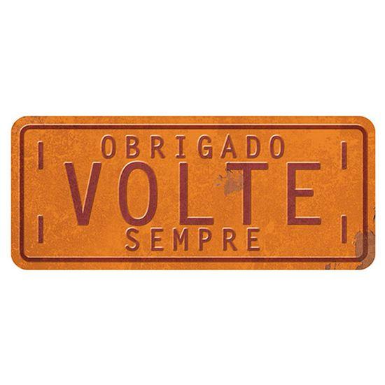 Placa Decorativa Obrigado Volte Sempre 14,6x35cm Dhpm2-033 - Litoarte