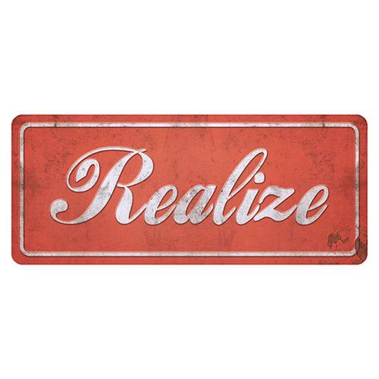 Placa Decorativa Realize 14,6x35cm Dhpm2-027 - Litoarte