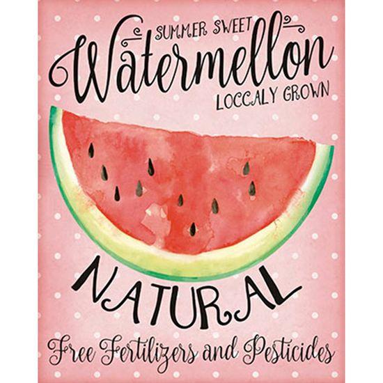 Placa Decorativa Watermelon 24x19cm DHPM-135 - Litoarte
