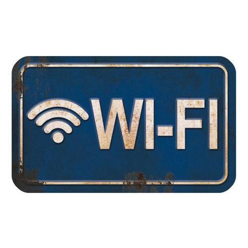 Placa Decorativa Wi-Fi 20x12cm Dhpm-102 - Litoarte
