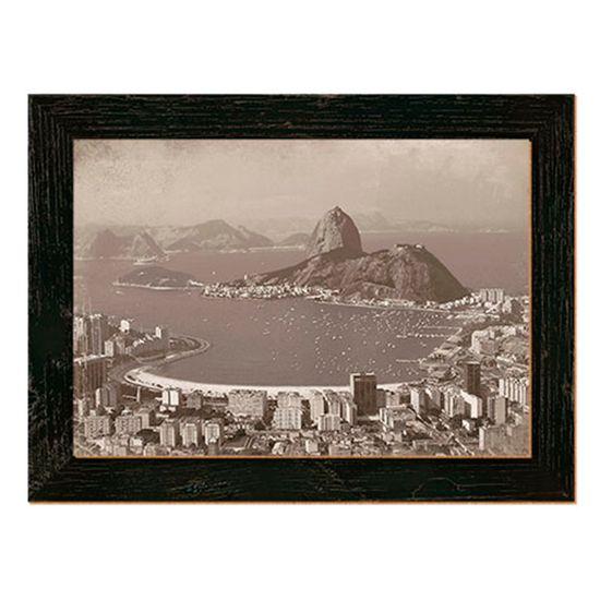 Placa Decorativo em MDF 35,5x26,5 Rio de Janeiro DHPM5-114 - Litoarte