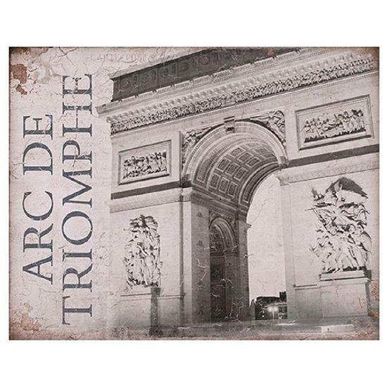 Placa em Mdf e Papel Decor Home Arc de Triomphe Dhpm-052 - Litoarte