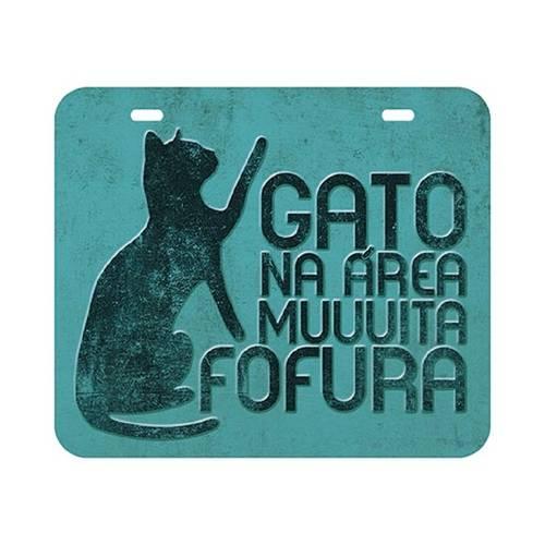 Placa em Mdf e Papel Decor Home Gato Dhpm-028 - Litoarte