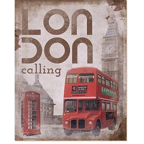 Placa em Mdf e Papel Decor Home Inglaterra Dhpm-010 - Litoarte